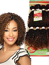 economico -Riccio Crochet trecce con capelli umani Ricci intrecciati Trecce di capelli 8