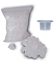 abordables -dragonhawk® 1000 piezas de tintas para tatuajes tazas tapas de plástico de tamaño medio color blanco tc102-1