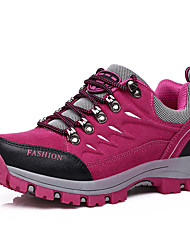 cheap -Women's Shoes PU Spring Fall Athletic Shoes Hiking Shoes Flat Heel Round Toe Lace-up for Outdoor Fuchsia Navy Dark Purple