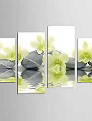 Abstract Floral/Botanical Modern Realism,Four Panels Canvas Any Shape Print Wall Decor For Home Decoration