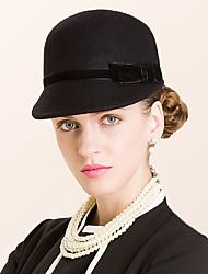 Недорогие -шерстяные фланелевые шляпы головной убор свадебный вечер элегантный женственный стиль
