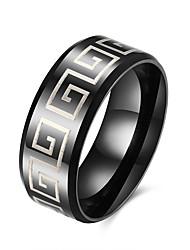 billige -Herre Ring Klassisk Europæisk Mode Rustfrit Stål Titanium Stål Smykker Fest Daglig Afslappet