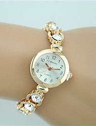 Women's Fashion Watch Bracelet Watch Rhinestone Imitation Diamond Quartz Alloy Band Charm Casual Elegant Gold Strap Watch