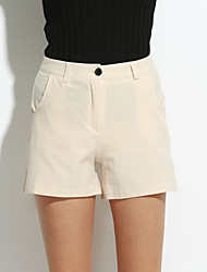abordables -De las mujeres Pantalones Cortos-Simple Microelástico-Algodón