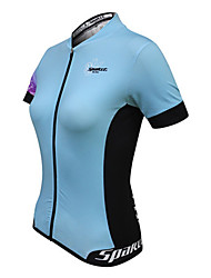 cheap -SPAKCT Women's Short Sleeve Cycling Jersey Patchwork Bike Jersey, Quick Dry, Summer, 100% Polyester / Breathable / Stretchy / Breathable / YKK Zipper / Reflective Strips
