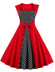cheap -Women's Plus Size Daily Vintage Sheath Dress