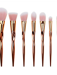 YZIMENG® 7pcs Rose Gold Makeup Brushes Set Blush/Eyeshadow/Lip/Eyebrow/Concealer/Powder Travel Portable Synthetic Hair Make Up for Face