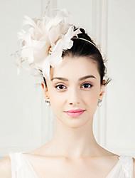 Недорогие -перо фашинирующие цветы головной убор классический женский стиль