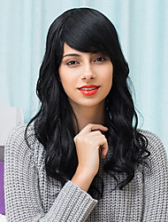 cheap -Attractive Layered Beautiful Long Capless Wigs Natural Wavy Human Hair