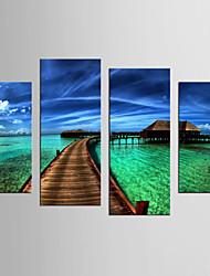 Riproduzione Paesaggi Modern Realismo,Quattro Pannelli Tela ogni Forma Stampa Decorazioni da parete For Decorazioni per la casa