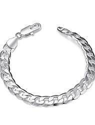Pánské Dámské Řetězové & Ploché Náramky Měď Postříbřené Módní Bohemia Style Punkový styl Přizpůsobeno minimalistický styl Stříbrná Šperky