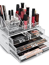 cheap -Cosmetic Storage Makeup Storage Acrylic Jewelry Display Boxes Two Pieces Set