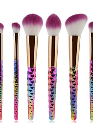 cheap -YZIMENG® 6pcs Unicorn Makeup Brushes Set Blush/Eyeshadow/Lip/Eyebrow/Concealer/Powder Portable Travel Synthetic Hair Make Up for Face
