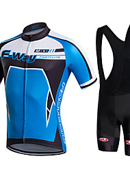 Fastcute Fahrradtrikot mit Trägerhosen Herrn Kurzarm Fahhrad Bib - Shorts/Kurze radhose MIT Trägern Jacke Shorts/Laufshorts Hemd