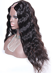 cheap -Human Hair Wig Water Wave 130% Density 100% Hand Tied African American Wig Natural Hairline Short Medium Long Women's Human Hair Lace Wig