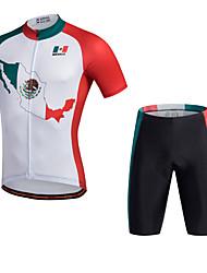 cheap -Miloto Cycling Jersey with Shorts Men's Short Sleeves Bike Jersey Padded Shorts/Chamois Shorts Shirt Sweatshirt Top Bottoms Clothing Suits