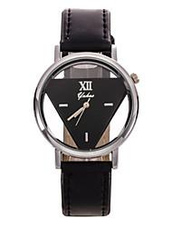 Жен. Модные часы Кварцевый Кожа Группа Цветы Черный