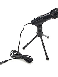 venda de áudio de gravação de som microfone condensador quente com montagem de choque clipe de titular com botão de bloqueio 3,5