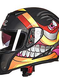 carros elétricos gxt g358 motocicleta dupla lente capacete integral anti-fog para o homem