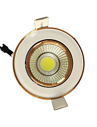 5pcs 5W cob 220-240V branco quente levou para baixo luz recesso teto