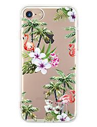 Para Ultra-Fina Estampada Capinha Capa Traseira Capinha Flor Macia TPU para Apple iPhone 7 Plus iPhone 7 iPhone 6s Plus/6 Plus iPhone 6s/6