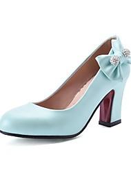 abordables -Mujer Zapatos Semicuero Verano Otoño Zapatos del club Gladiador Innovador Confort Tacones Paseo Tacón Cuadrado Punta cerrada Dedo redondo