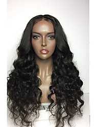 cheap -Hot Unprocessed 8-26 Inch 130% Density Virgin 100% Brazilian Natural Color Wave Full Lace Wig Human Hair Lace Full Wigs