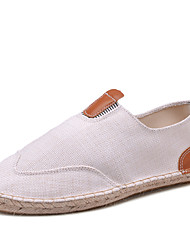 cheap -Men's Shoes Linen Spring / Fall Light Soles / Espadrilles / Comfort Loafers & Slip-Ons Walking Shoes White / Black / Khaki