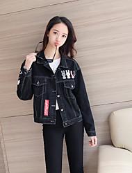 sinal 2017 Primavera nova impressão jaqueta jeans feminino coreano