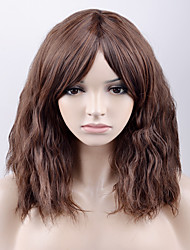 cheap -Synthetic Wig Loose Wave Synthetic Hair Brown Wig Women's Medium Length Natural Wigs Capless