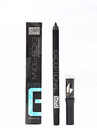 1Pcs Professional Makeup Black Eyeliner Long Lasting Waterproof Eyeliner With Sharpener Eyeliner Pencil