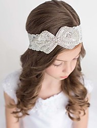 cheap -Girls' Boys' Hair Accessories, All Seasons Cotton Lace Headbands - White