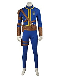 cheap -Inspired by Overwatch Ace Video Game Cosplay Costumes Cosplay Suits Cosplay Tops/Bottoms Solid Leotard/Onesie Belt More Accessories