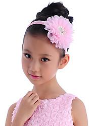 abordables -diademas de tul tocado de flores elegante estilo femenino clásico