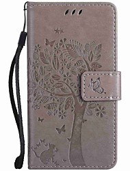 cheap -Case For Nokia Lumia 635 Nokia Lumia 950 Nokia Lumia 640 Nokia Card Holder Wallet with Stand Embossed Full Body Cases Tree Hard PU Leather