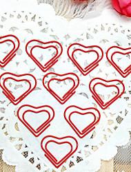 Herzmuster Silber Plastik verpackt Büroklammern (10pcs)