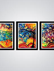 cheap -Abstract Still Life Modern,Three Panels Canvas Horizontal Print Wall Decor For Home Decoration