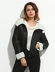 Women Lamb Fur Outerwear , Hoodie/Fleece Lining