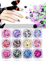 cheap -12pcs Glitter & Poudre Sequins Glitters Fashion Neon & Bright High Quality Daily