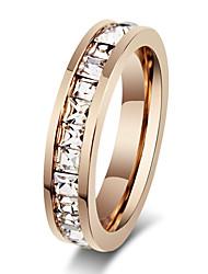 Недорогие -Жен. Кольцо прядильное кольцо Мода Розовое золото Модные кольца Бижутерия Розовое золото Назначение Для вечеринок Стандартный размер