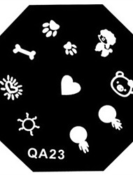 cheap -Nail Art Stamp Stamping Image Template Plate