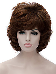 cheap -New High Quality European And American Popular Brown Short Wig 6 inch