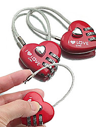 cheap -Luggage Lock / Padlock / Coded Lock 3 Digit Luggage Accessory / Coded lock / Anti-theft For Luggage Plastic / Canvas / Metal