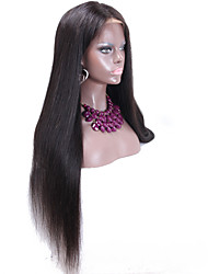 Silk Base Wig Silk Top Full Lace Wigs 130% Density Silky Straight Indian Human Hair Lace Wigs Baby Hair Around Hand