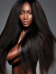 New Style Kinky Straight Lace Front Hair Wigs For Black Women Coarse Yaki Lace Front Human Hair Wigs Yaki Kinky Straight Lace Wigs With Baby Hair