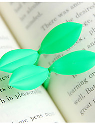 cheap -Soft Rubber Leaf Bookmarks(2 PCS/Set)