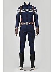 Superhéros Cosplay Costume de Cosplay Pour Halloween Costume de Soirée Bal Masqué Cosplay de Film Manteau Pantalon Gants Ceinture Plus
