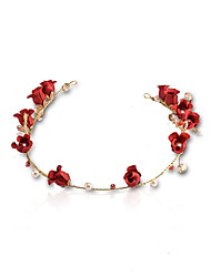 imiteret perle stof legering blomster hovedstykke klassisk feminin stil