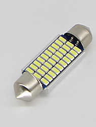 cheap -SO.K 4pcs T11 Car Light Bulbs 3 W SMD 3014 300 lm LED Interior Lights