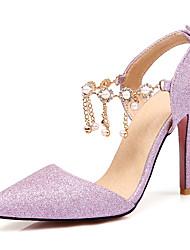 Women's Sandals Spring Summer Fall Winter Club Shoes Customized Materials Wedding Party & Evening Dress Stiletto Heel Rhinestone